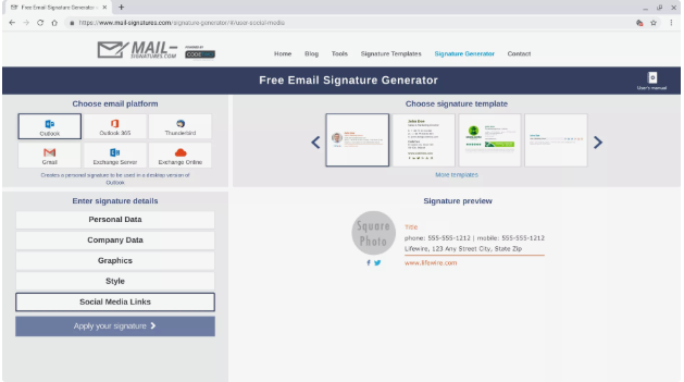 steps to create an email signature