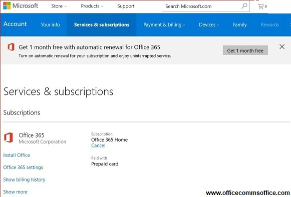 Microsoft office subscription
