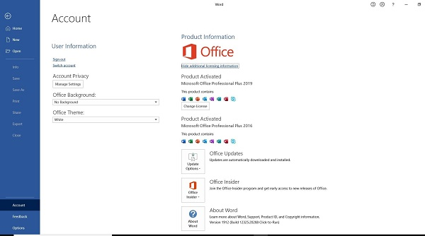 How do I update my Microsoft Office to 2019 or 2020