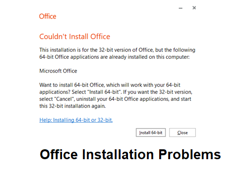 How do I fix common office installation problems