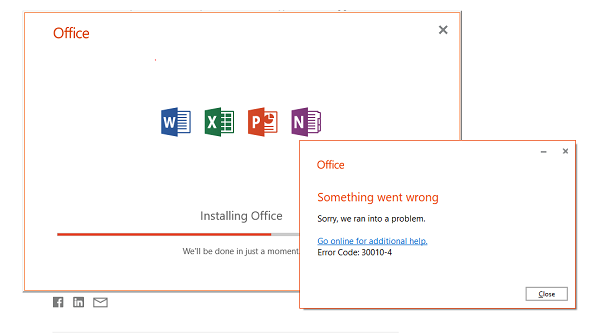 how to fix office 365 error code 30010-4