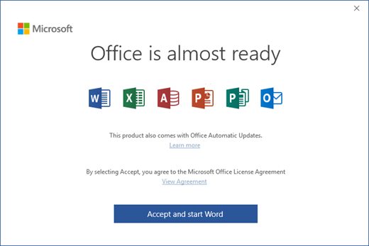 installing a new version of office 2016